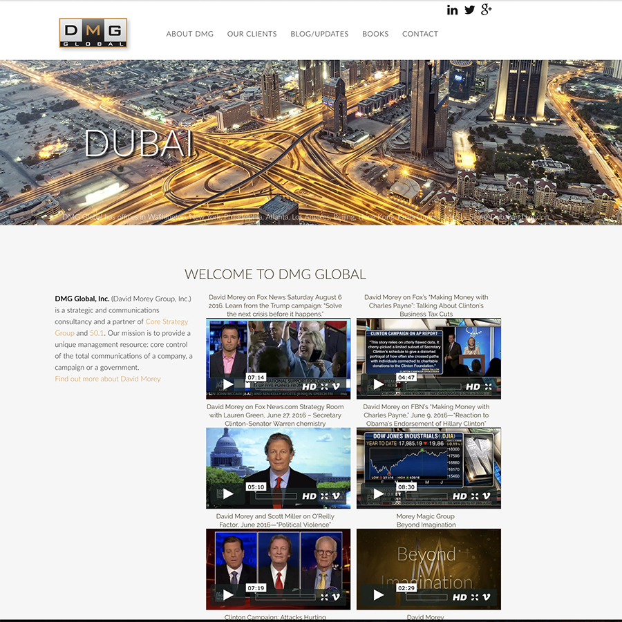 DMG Global, Inc. Website