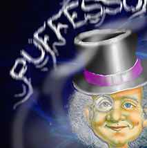 Pufessor Vape Photoshop Illustration
